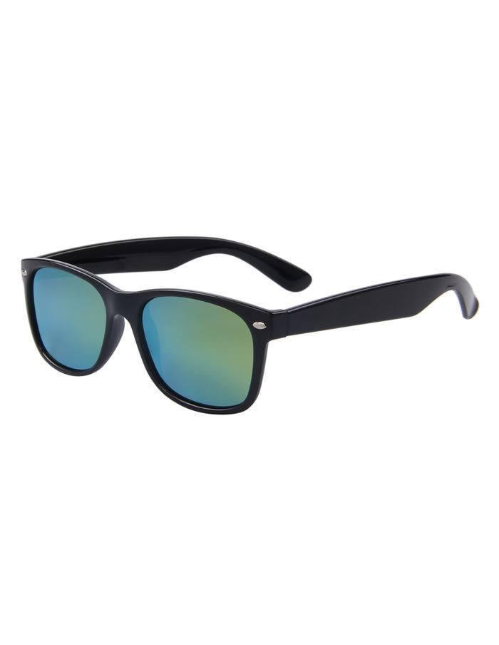 Slnečné okuliare Wayfarer zelené sklá