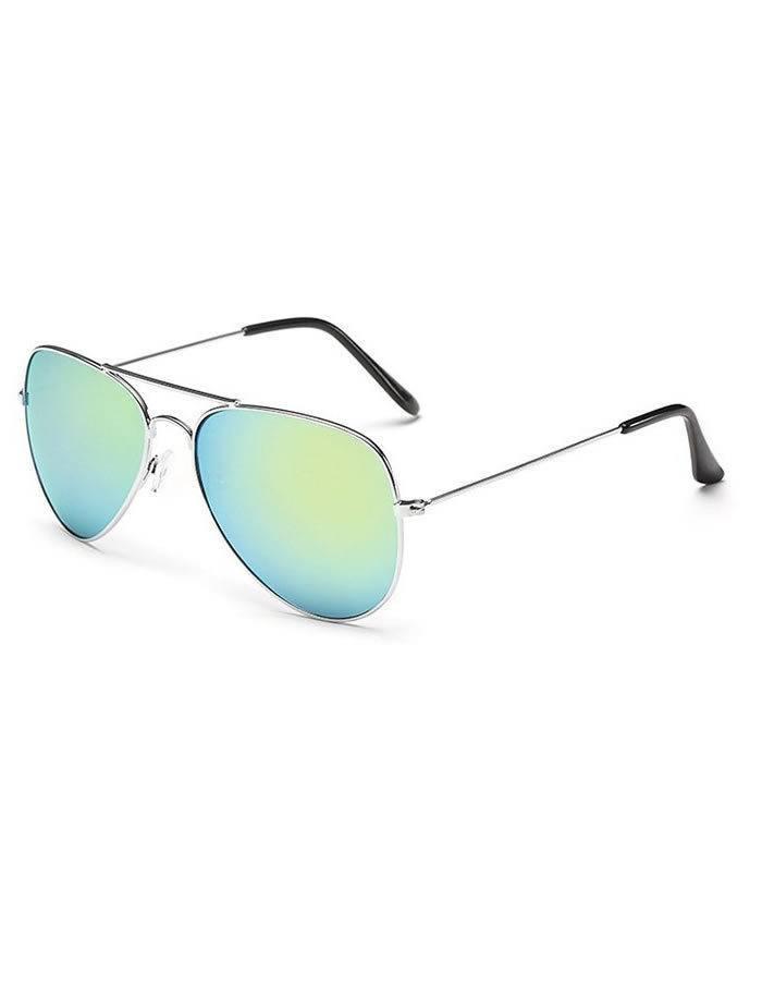 Slnečné okuliare Aviator so zelenými sklami