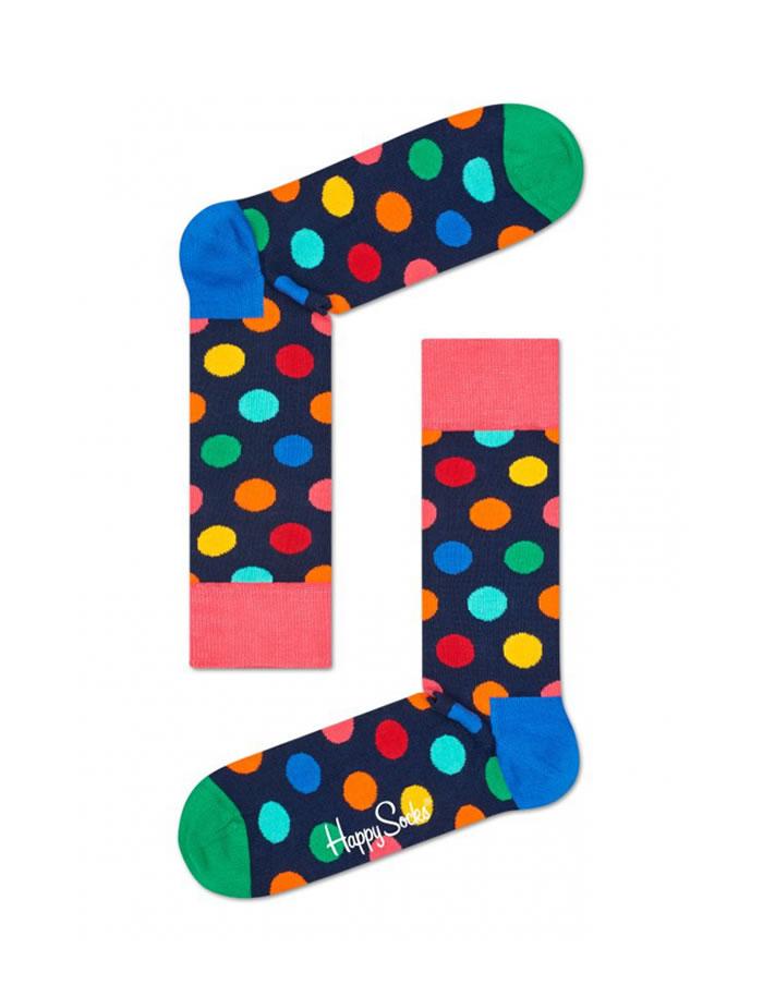 Viacfarebné bodkované ponožky Happy Socks